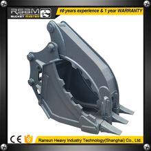 Special bucket clamp grab excavator for sale