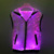 Dance costumes fiber optic women's men's sleeveless seven color changing LED luminous light up hoodie for night club rave party