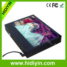 taxi top rechargeable adaptor lcd magnet advertising player 10.1