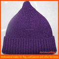 acrylic knitted long hat with top ball
