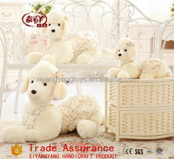 2015 new product super soft poodle dog plush toys