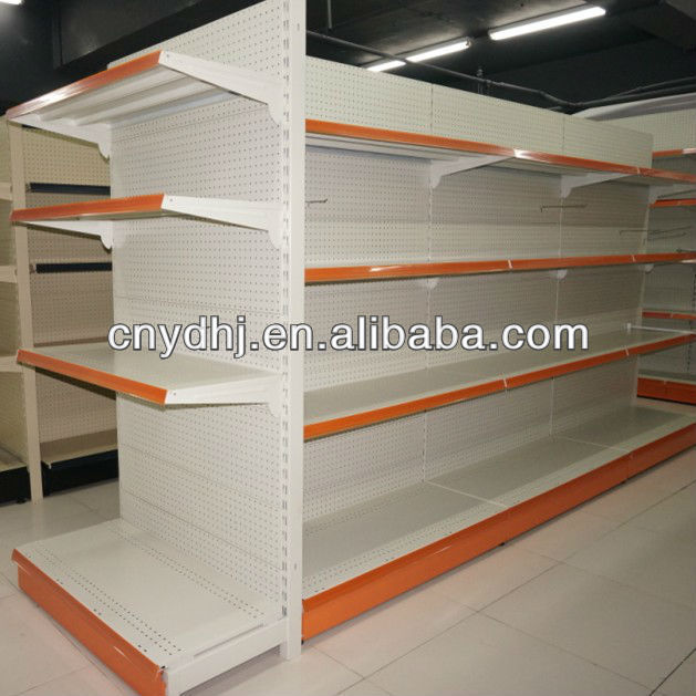 metal shelving rack/used display cases