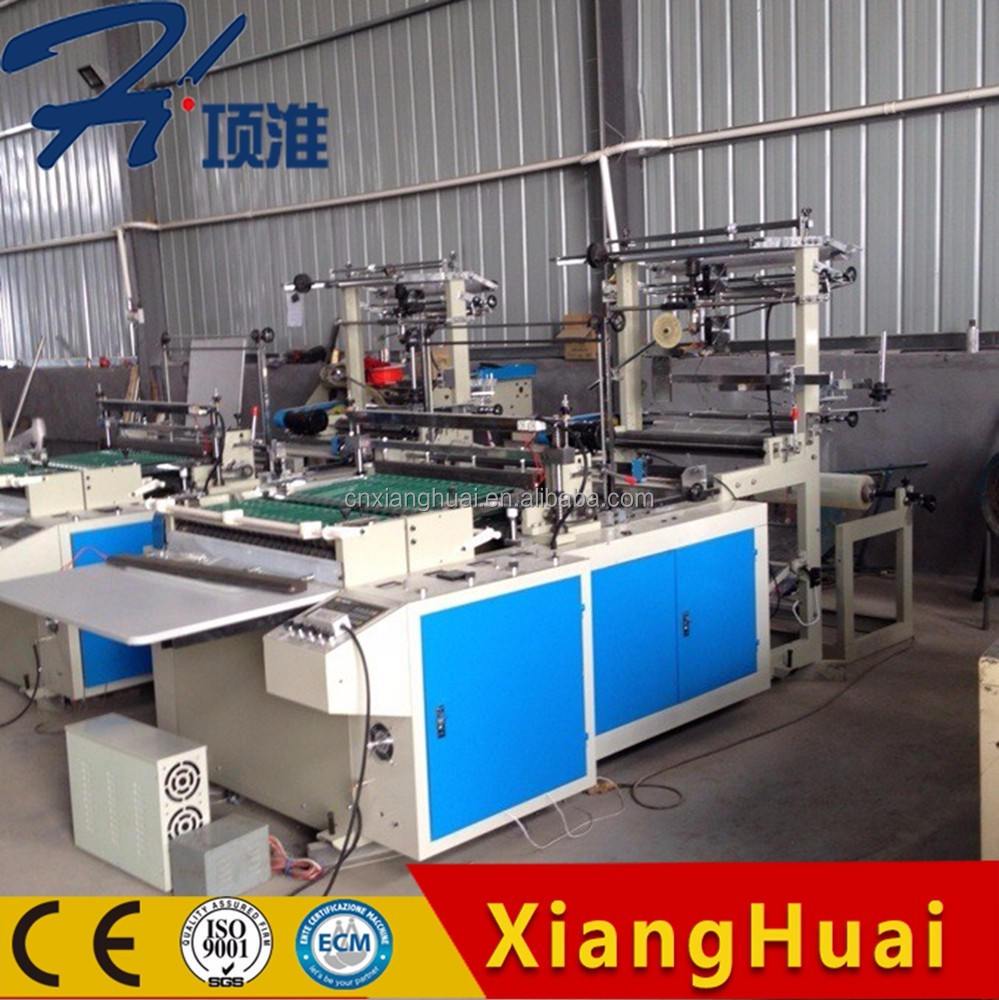 Fully Automatic Control T Shirt Vest Bag Making Machine with Auto Punching