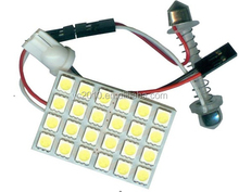 T10 Ba9s Festoon 24SMD 5050 Auto Light PCB, Auto LED Room/Roof Lamp/Car Dome Light