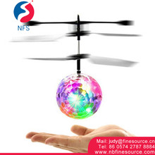 Whirly Ball Crystal Flashing LED Light Sensor Flying Ball Helicopter