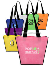 China Supplier 40W * 33H *18G cm Full Color Printing PP Woven Handled Shopping Bag