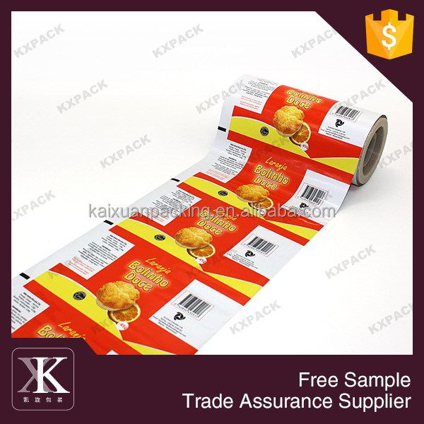 Snack and cookies heat seal automatic plastic food packaging film