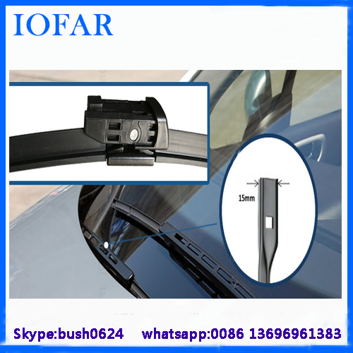 China wiper blade factory spoiler for vw polo windscreen wiper