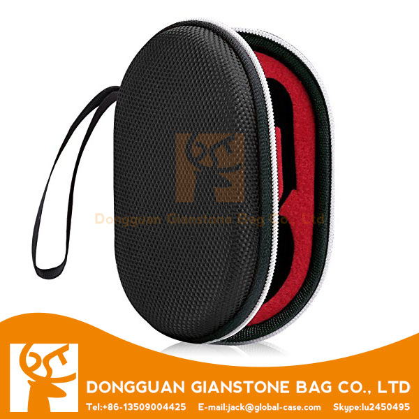 Earphone Case,2 Pack Portable Storage Bag Zipper Closure Carrying Cover Pouch Pocket, with Holding Strap, for Headphone