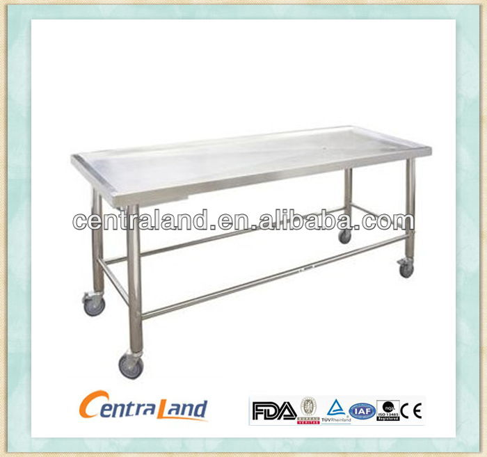 Funeral Embalming Stainless Steel Autopsy Operatig table