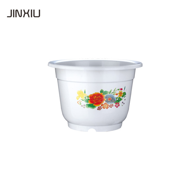 round white painting garden pot for nursery gardening home garden