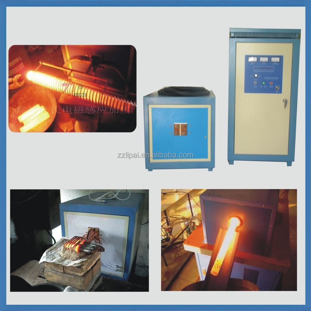 Steel ball/piston hot forging induction machine