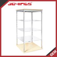 OEM / ODM Serviced Advertising 4 Tiers Floor Standing Acrylic Display Rack