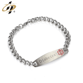 Promotional silver metal debossed own logo custom bangle bracelet with necklace