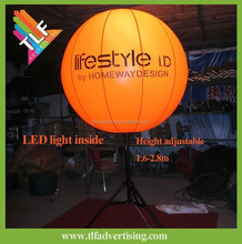 Giant Practical advertising Tripod Inflatable LED Balloon with Stand