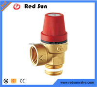 HR6090 factory manufacture forged brass water heating system 3 bar 6bar safety pressure relief valve