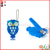 2014 novelty/ funny/ fancy/ guitar nail clipper with silicone case/catcher