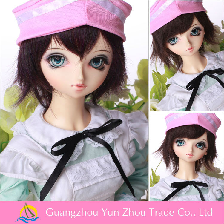 New top quality heat resistant synthetic hair bjd bady doll wig for Thailand market