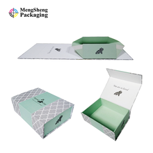 custom logo printed gift paper box flat packed magnetic foldable paper box customized cardboard fold paper box
