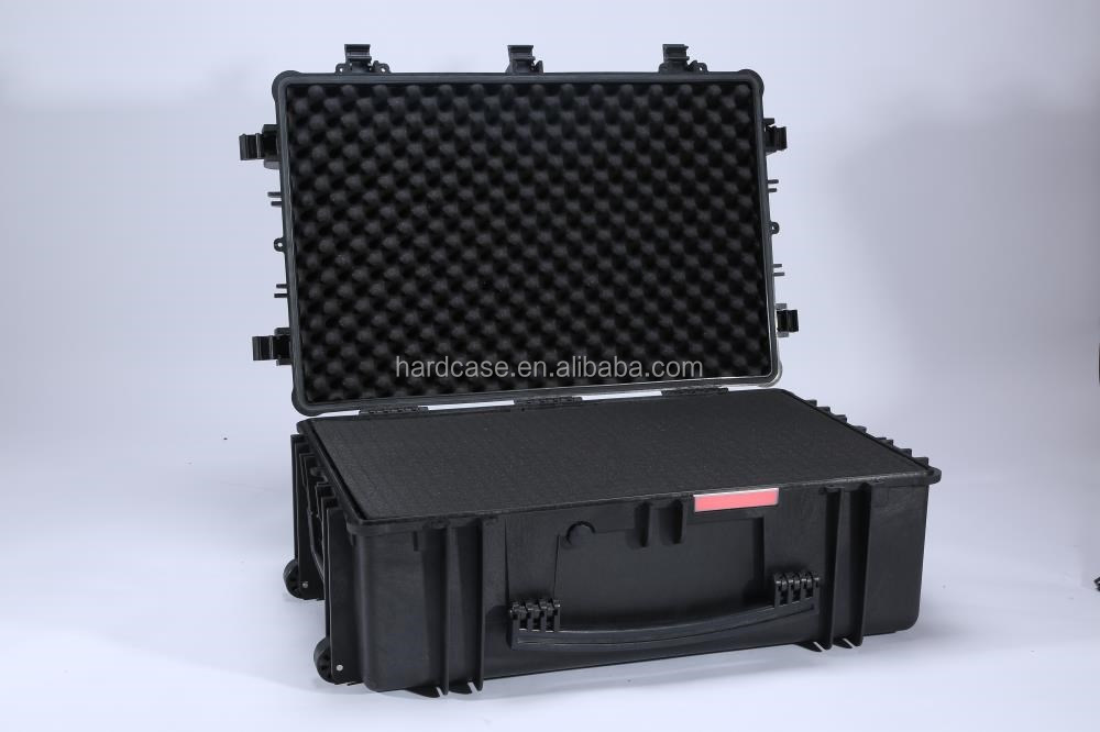 large trolley case No.764840 with wheels,for electronic device plastic watertight hard protective case