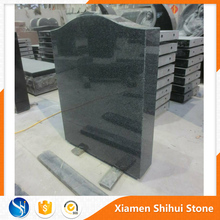 Dark gray granite polished tombstone stele headstone for funeral