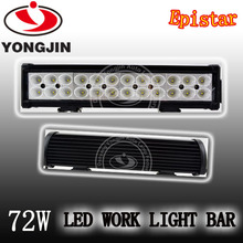 New design 72w led light bar,3w bulbs,off road 4x4 use for jeep wrangle trucks cars