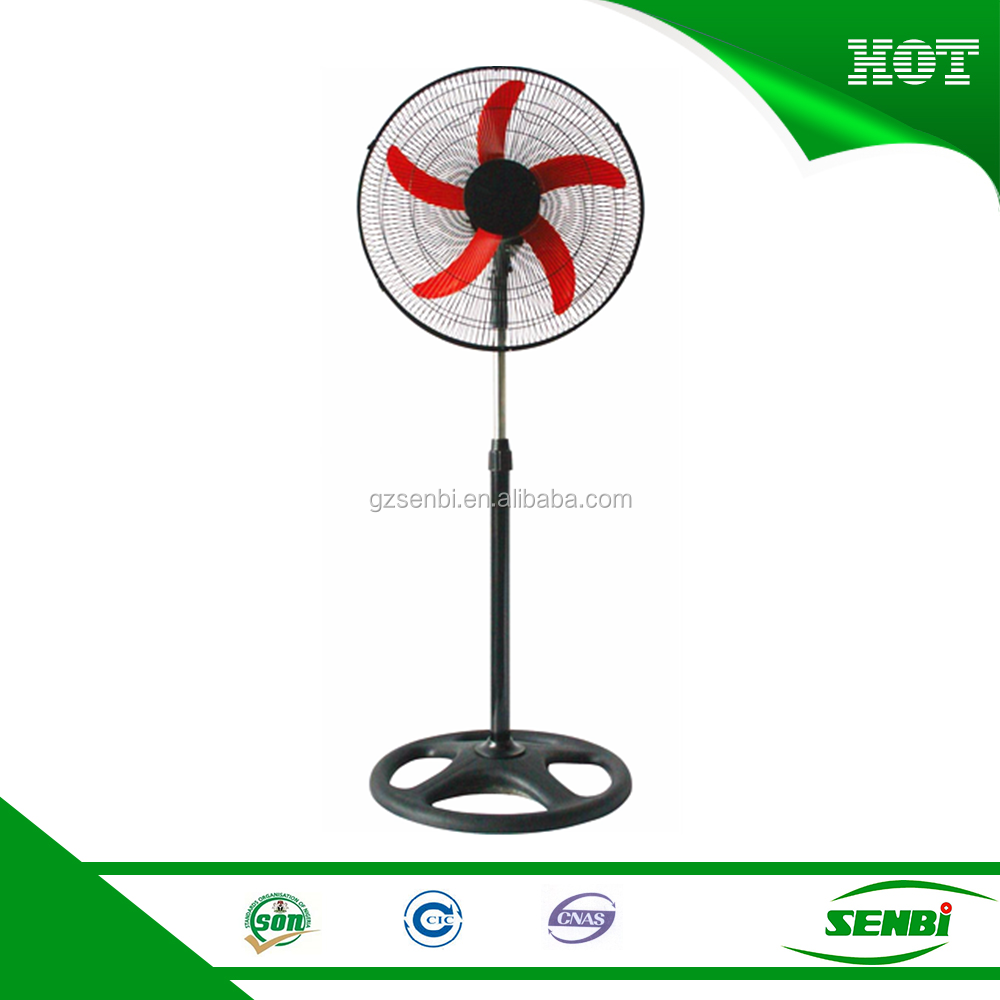 18 inch 16 inch price of standard electric stand fan specs with 5 ABS blades