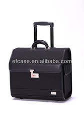 PROFESSIONAL BLACK BEAUTY FLIGHT TROLLEY CASE WITH WHEELS