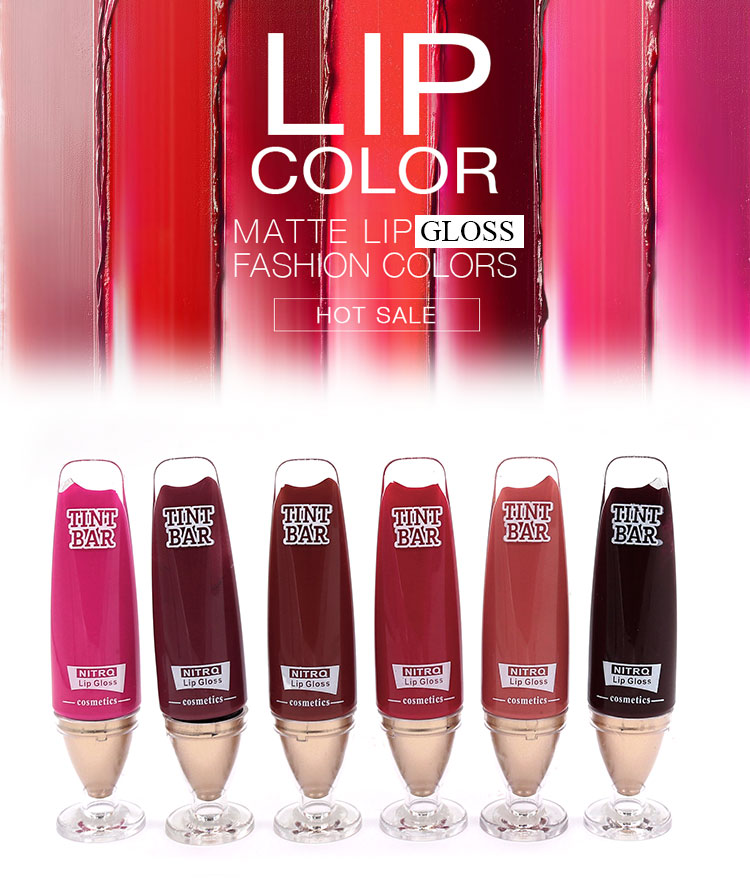 12 Clours Beauty Makeup Lip Gloss Private Label Matte Waterproof Cosmetic Liquid Lipstick