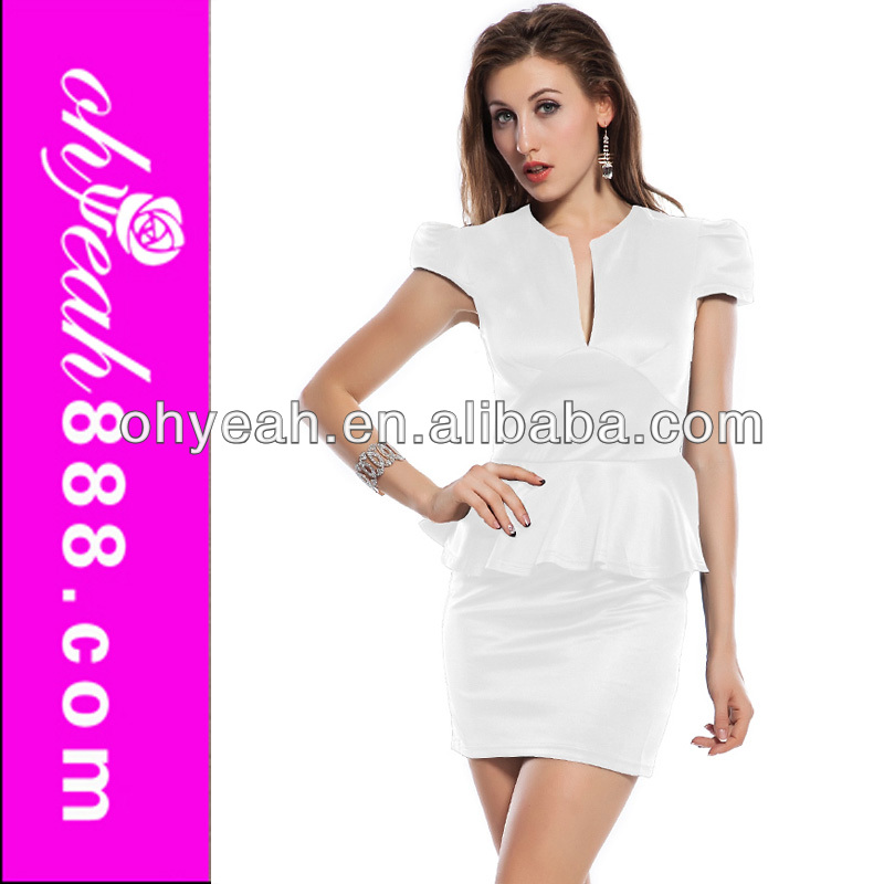 Sexy design 2014 new model formal office dresses for women