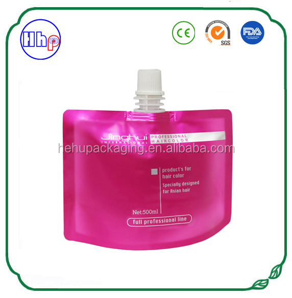 new product moisture proof heat sealable cosmetic spout packaging pouches