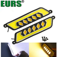 Universal ultra-thin waterproof 12V 8W IP65 Automotive led with steering modified guide COB daytime running lights