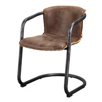 Industrial Loft Vintage Whiskey Leather Counter Bar Stool