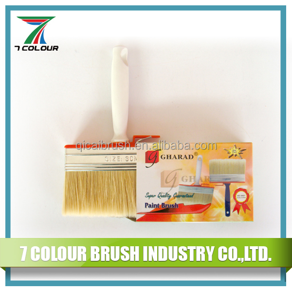 With Clip 3 x 12 Cm Plastic Handle Mixed Bristle Decking Paint Brush
