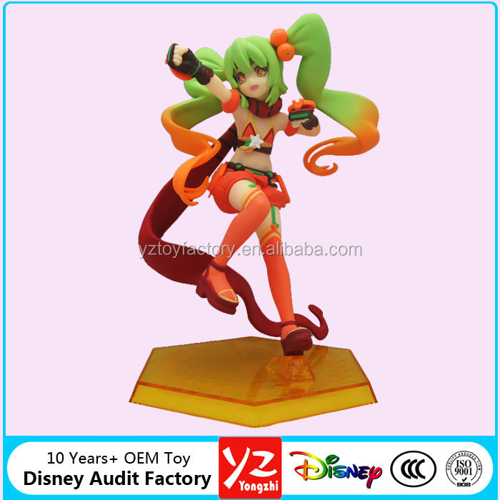 Custom 16 cm Sailor Moon cartoon figurine for collection, make pretty soldier pvc figures by Disny Audited Factory