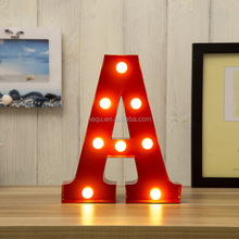 Metal Festival Or Celebration Or Party Decoration Bright Light up Marquee Alphabet Letter Led Light
