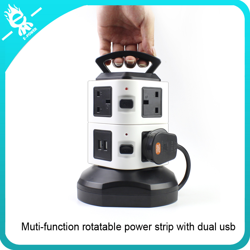 multiple socket outlet european usb charger power extension socket tower power strip