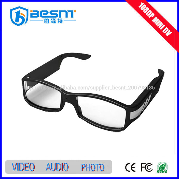 High definition 1920x1080 full hd 1080p video camera wireless hidden camera glasses 32GB sd card ir video recording BS-787P