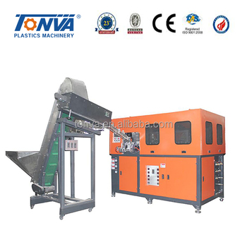 Fully automatic plastic PET stretch blow molding machine with 4 cavity