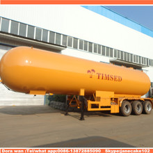 Cheap price 3 axles tanker liquid gas anhydrous ammonia durable iso butane lpg trailer