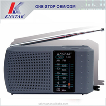 China factoy portable radio FM AM 2 band radio