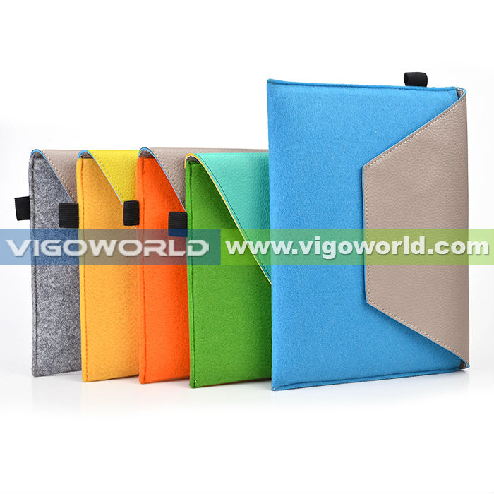 VIGOWORLD Microfiber Colorful Envelope Case For iPad Air