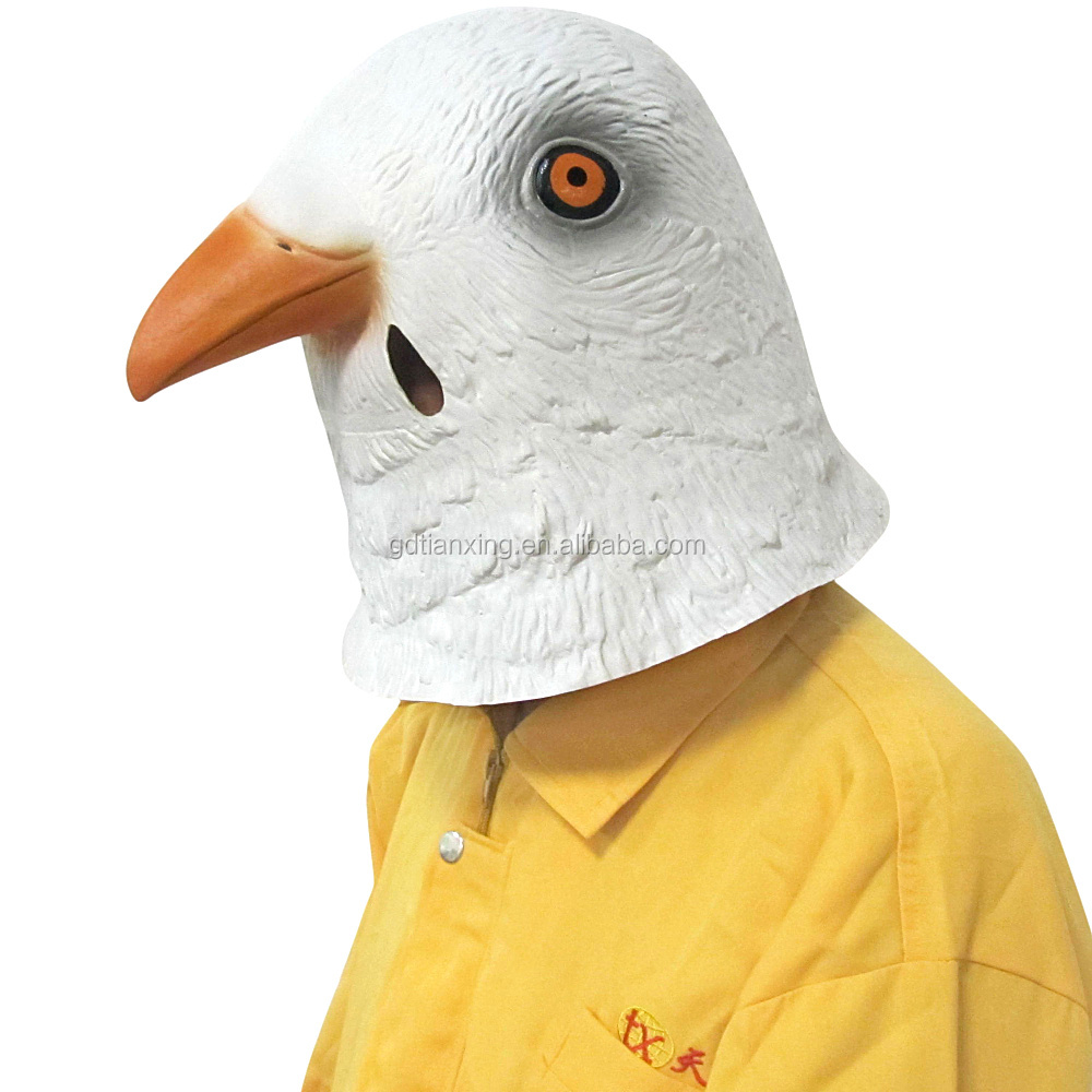Fashion Custom Adult Party Funny Pigeon Face Natural Latex Masks