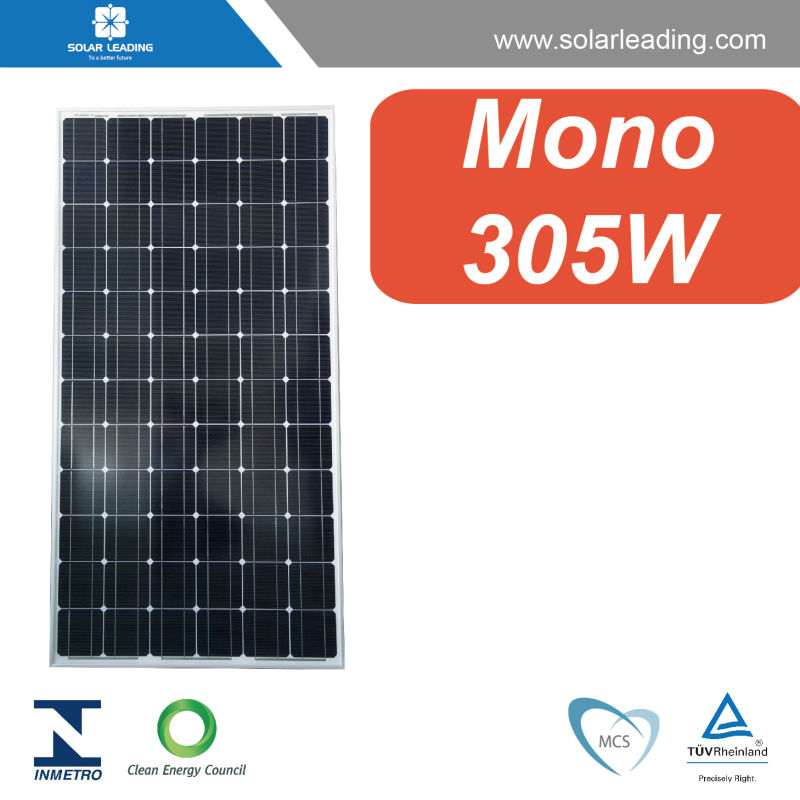 Hot sale 305w aluminum frame for solar panel with production line solar cell for residential solar power system