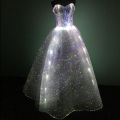 Women Light Up optical Fabric clothes Bridal Ball Evening Party Gown Banquet frim Show Formal Luminous Fiber Optic Wedding Dress