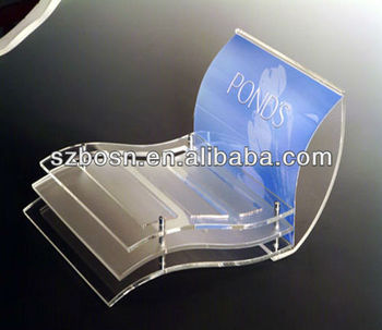 Elegant clear acrylic makeup shelf;acrylic cosmetic display;makeup powder holder;