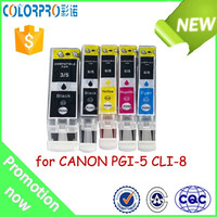 Hot sale PGI-5 CLI-8 BK/C/M/Y ink cartridge Compatible for CANON printer
