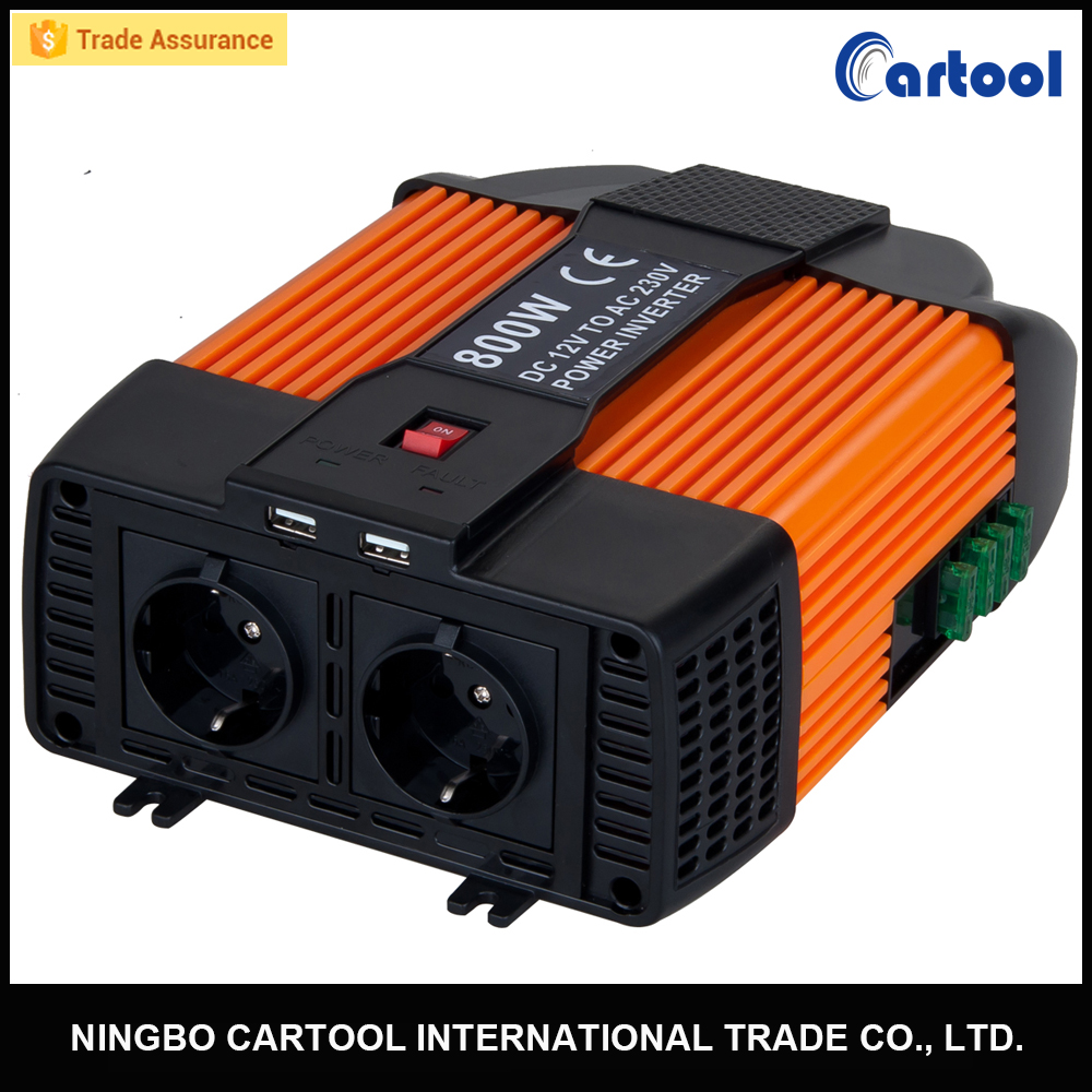 800W Car Power Inverter 12V/24V dc to 120/220V ac Modified Sine Wave Inverter