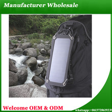Factory Wholesale Solar Panel 6W Solar Charger Waterproof Solar Power USB Phone Charger Backpack Charger