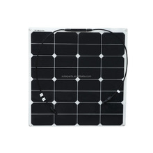 Wholesale high efficiency 50W semi flexible cheapest solar panel